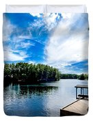 Water Mirrors Sky Duvet Cover