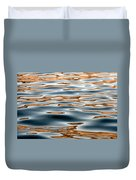 Water Movement- Liquid Gold Duvet Cover