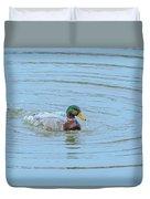 Water Off A Ducks Back Duvet Cover