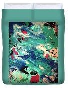 Water Panda Duvet Cover