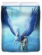 Water Pegasus Duvet Cover