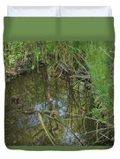Water Pond Reflection In Peters Canyon Duvet Cover