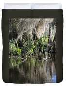 Water Reeds And Spanish Moss Duvet Cover