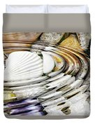 Water Ripples Above Sea Shells Duvet Cover