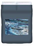 Water Sculpture In Blue 1 Duvet Cover