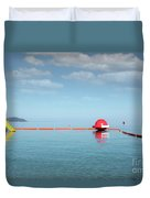 Water Slide Seascape Summer Vacation Scene Duvet Cover