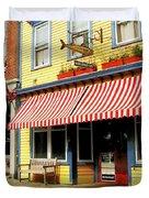 Water Street Cafe Duvet Cover