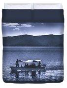Water Taxi - Lago De Coatepeque - El Salvador Duvet Cover