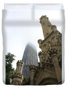 Water Tower And Hancock Duvet Cover