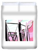 Water Tower In Pink Abstract Duvet Cover