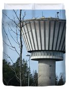 Water Tower Of Lohja  Station Duvet Cover