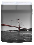 Water Underneath The Bridge-black And White Duvet Cover