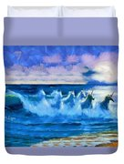 Water Unicorns Duvet Cover