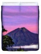 Water Volcano, Guatemala Duvet Cover