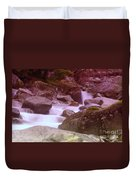 Water Winding Through Rocks Duvet Cover