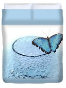 Water With Butterfly Duvet Cover