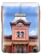 Waterbury Vermont Train Station Duvet Cover