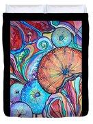 Watercolor #4 Sea Urchins Duvet Cover