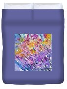 Watercolor - Abstract Flower Garden Duvet Cover