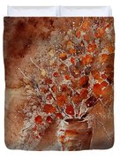 Watercolor Autumn Bunch Duvet Cover