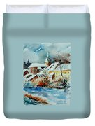 Watercolor Chassepierre Duvet Cover