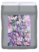 Watercolor - Cherry Blossoms Duvet Cover