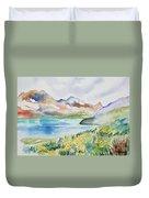 Watercolor - Colorado Alpine Landscape Duvet Cover