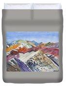 Watercolor - Colorado Elk Range View Duvet Cover
