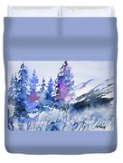 Watercolor - Colorado Winter Wonderland Duvet Cover