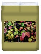 Watercolor Colorful Leaves After A Shower 1771 W_2 Duvet Cover