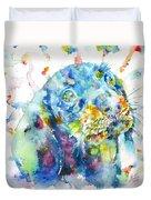Watercolor Dachshund Duvet Cover