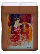 Watercolor Eglantine 1 Duvet Cover