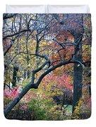 Watercolor Forest Duvet Cover by Lorraine Devon Wilke