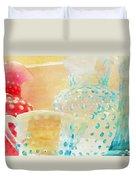 Watercolor Glassware Duvet Cover