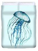 Watercolor Jellyfish Duvet Cover