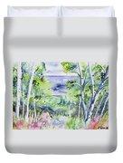 Watercolor - Lake Superior Impression Duvet Cover