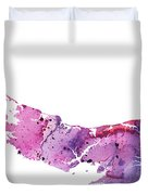 Watercolor Map Of Prince Edward Island, Canada In Pink And Purple  Duvet Cover