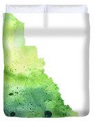 Watercolor Map Of Yukon, Canada In Green Duvet Cover