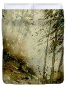 Watercolor Misty Atmosphere  Duvet Cover