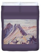 Watercolor - Near The Top Of Mount Sneffels Duvet Cover