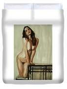 Watercolor Nude 1 Duvet Cover