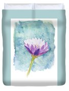 Watercolor Of Lotus Flower. Duvet Cover