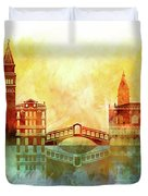 watercolor of Venice Duvet Cover