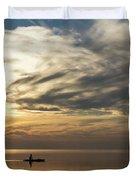 Watercolor Paddle - Kayaking Through A Glorious Silken Morning Duvet Cover