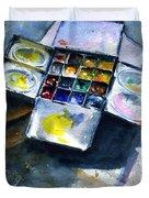 Watercolor Pallet Duvet Cover