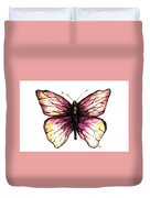 Watercolor Pink Butterfly Duvet Cover