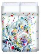 Watercolor Pit Bull.2 Duvet Cover