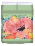 Watercolor Poppy Duvet Cover