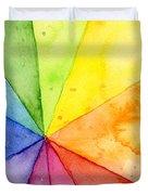Watercolor Rainbow Beachball Pattern Duvet Cover