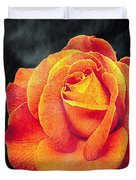 Watercolor Rose Duvet Cover